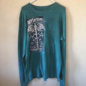 Affliction Long sleeve shirt size X-Large.